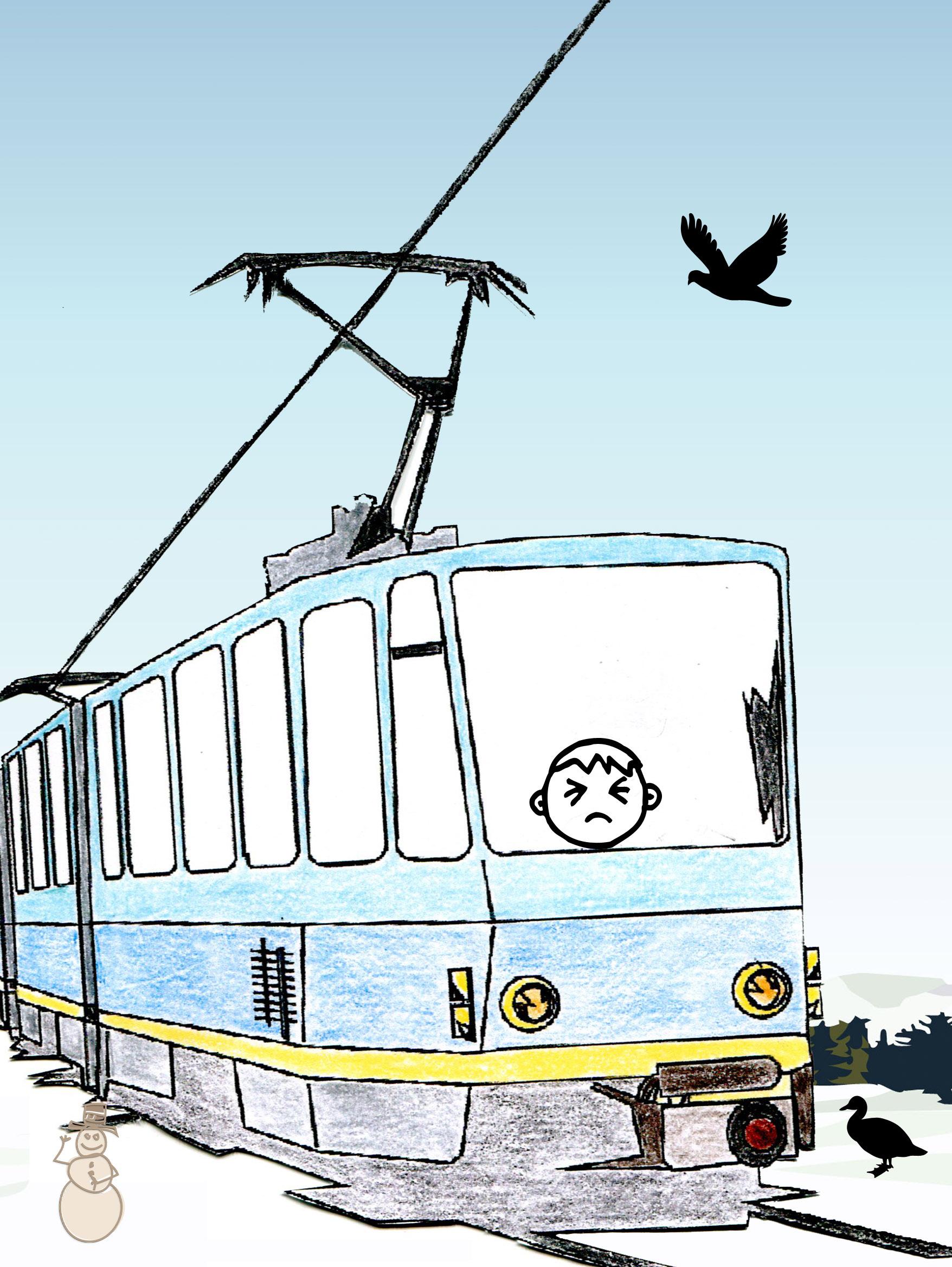 Le tram bleu